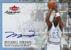 2013-14 Fleer Retro Basketball 2000-01 Autographics Michael Jordan