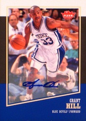2013-14 Fleer Retro Basketball Base Autograph Grant Hill