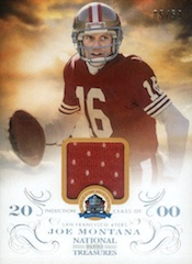 2013 Panini National Treasures Football 50th HOF Materials Joe Montana