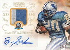 2013 Panini National Treasures Football 50th HOF Signature Materials Barry Sanders
