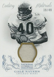 2013 Panini National Treasures Football Century Materials Gale Sayers