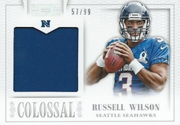 2013 Panini National Treasures Football Colossal Pro Bowl Russell Wilson