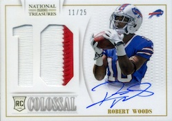 2013 Panini National Treasures Football NT Rookie Colossal Jersey Number Signatures