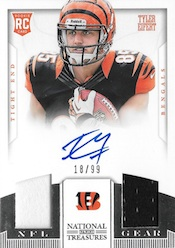 2013 Panini National Treasures Football NT Rookie NFL Gear Dual Materials Signatures