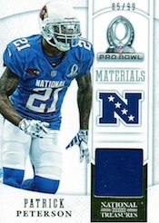 2013 Panini National Treasures Football Pro Bowl Materials