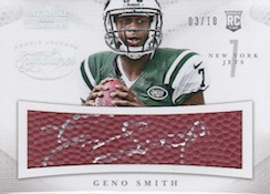 2013 Panini National Treasures Football RPS FB Leather Signatures Geno Smith