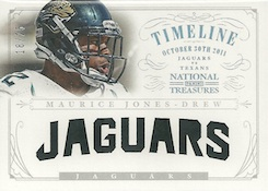 2013 Panini National Treasures Football Timeline Materials Team Nicknames