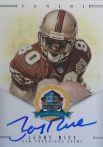 2013 Panini National Treasures Spectra 50th Anniversary HOF Signatures Update Jerry Rice