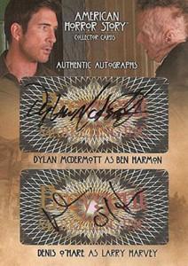 2014 Breygent American Horror Story Dual Autographs McDermott OMare