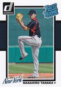 2014 Donruss Masahiro Tanaka Card Includes Japanese Variation 1