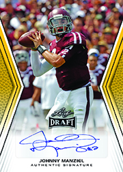 2014 Leaf Draft Football Autographs Johnny Manziel