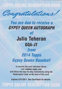 See All of the 2014 Topps Gypsy Queen Baseball Autographs 48