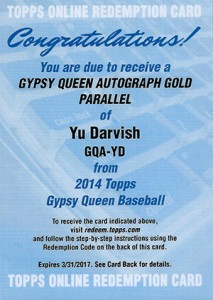 See All of the 2014 Topps Gypsy Queen Baseball Autographs 31