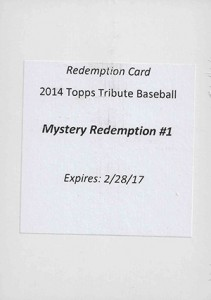 2014 Topps Tribute Mystery Redemption 1