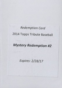 2014 Topps Tribute Mystery Redemption 2