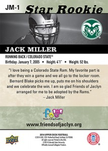 2014 Upper Deck Football Jack Miller
