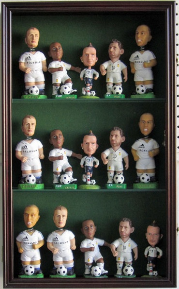Bobblehead Display Large Case UV Wood