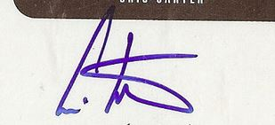 Cris Carter Signature Example