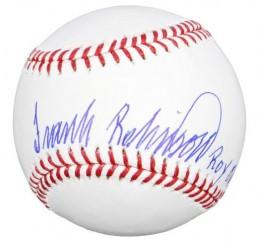 Frank Robinson Signed Baseball