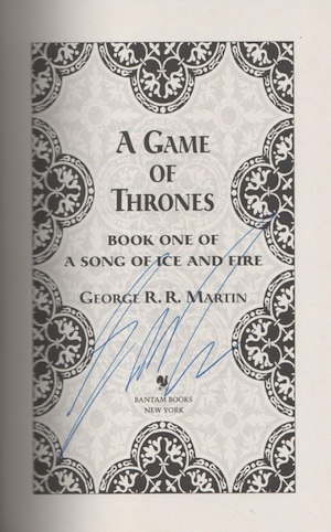 Game of Thrones Signed Books