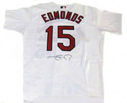 Jim Edmonds Signed Jersey