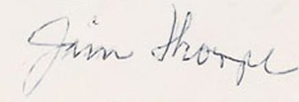 Jim Thorpe Cut Signature Example