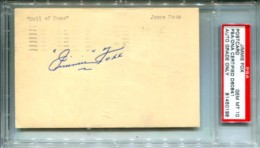 Jimmie Foxx Cut Signature Slab