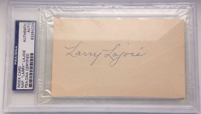 Nap Lajoie Baseball Cards and Autograph Buying Guide 33