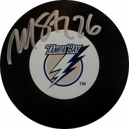 Martin St. Louis Signed Hockey Puck