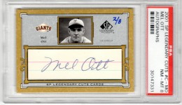 Mel Ott Cut Signature Card