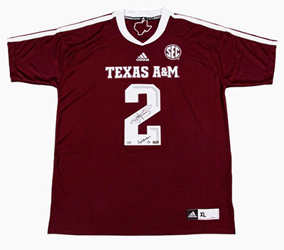 Panini Authentic Johnny Manziel Signed Heisman Jersey