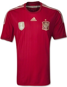 Spain 2014 Adidas World Cup Home Jerseys