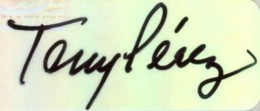 Tony Perez Signature Example