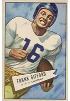 Frank Gifford Cards, Rookie Cards and Autographed Memorabilia Guide