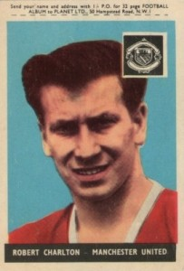 1958 A&BC Gum Famous Footballers Bobby Charlton #3