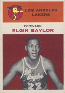 1961-62 Fleer Elgin Baylor RC #3