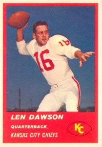 Len Dawson Cards, Rookie Card and Autographed Memorabilia Guide 1