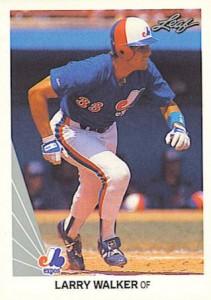 1990 Leaf Larry Walker RC