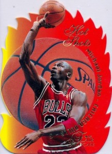 1996-97 Flair Showcase Basketball Hot Shots Michael Jordan