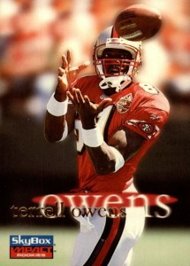 1996 Skybox Impact terrell Owens RC