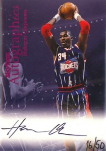 1999-00 Autographics Purple Foil Parallel Hakeem Olajuwon