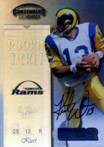 Kurt Warner Cards, Rookie Cards and Autographed Memorabilia Guide 1