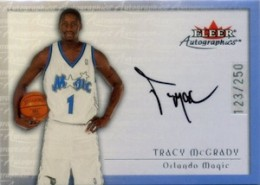 2000-01 Fleer Autographics Silver Parallel Tracy McGrady