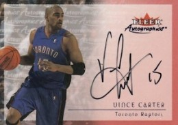 2000-01 Fleer Autographics Vince Carter