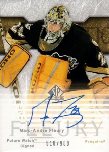 Marc-Andre Fleury Cards, Rookie Cards and Autographed Memorabilia Guide 4
