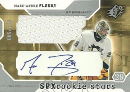 Marc-Andre Fleury Cards, Rookie Cards and Autographed Memorabilia Guide 3