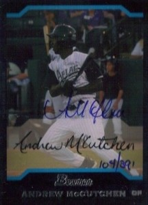 2006 Bowman Originals Buyback AFLAC Autographs McCutchen