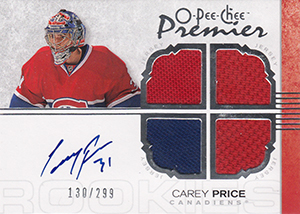 Carey Price Rookie Cards Checklist and Guide 4