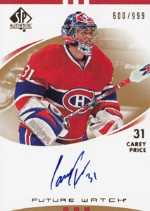 Carey Price Rookie Cards Checklist and Guide 5