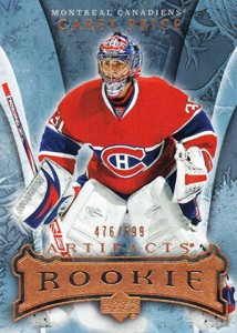 Carey Price Rookie Cards Checklist and Guide 10